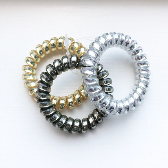 d8769529c00 Madewell Jewelry - Trio of metallic telephone cord bracelets